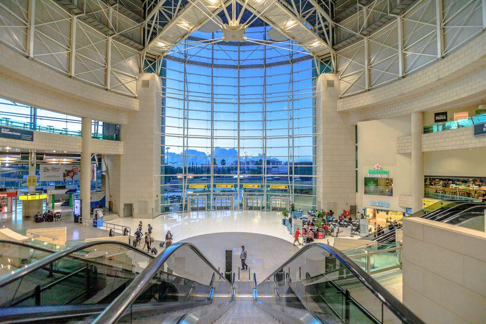 inside Lisbon airport