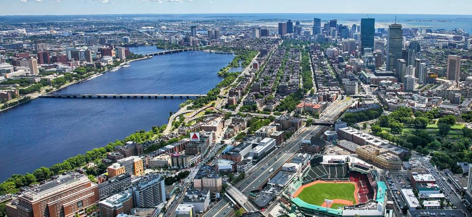 Boston aerial view, best boston travel blogs,boston trip blog,boston city guide,