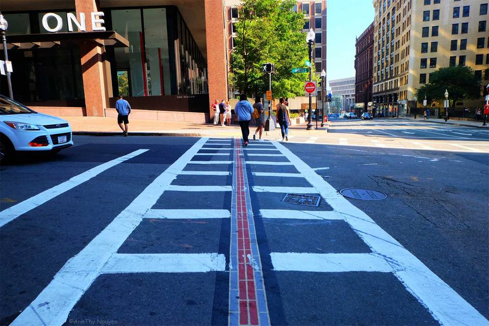 The Freedom Trail through downtown Boston
