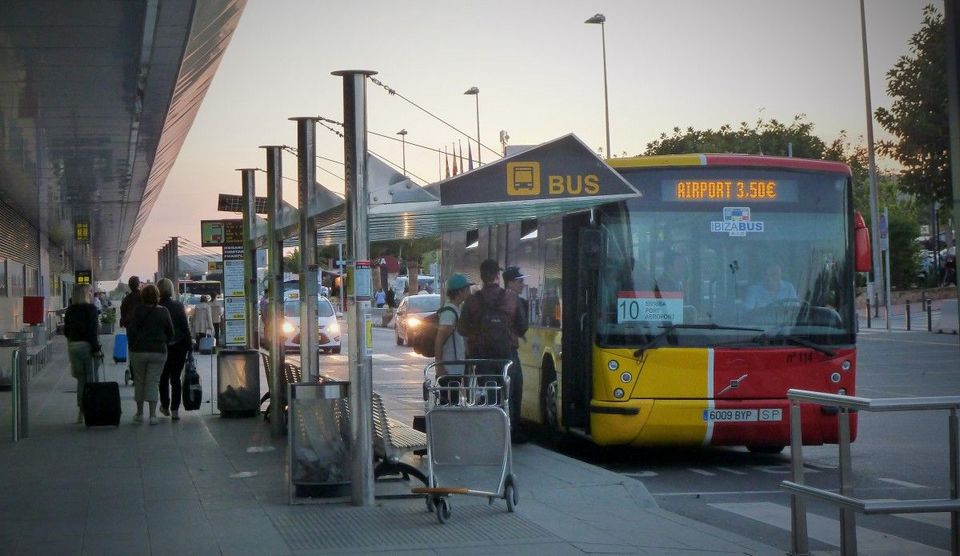 Bus at ibiza airport
