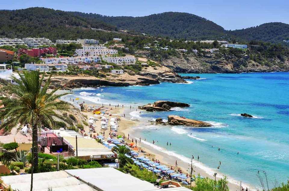 Panoramic view Cala-Tarida beach