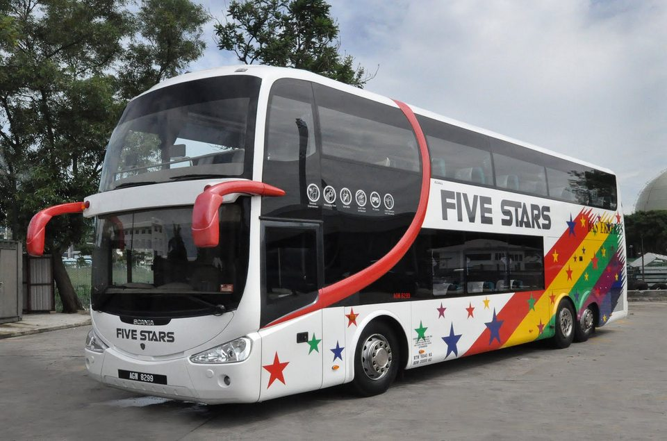 fivestars from kl to ipoh