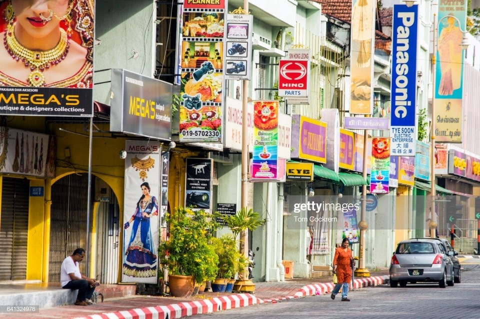 Jalan Sultan Yusof street scene, Little India, old town, Ipoh, Perak, Malaysia