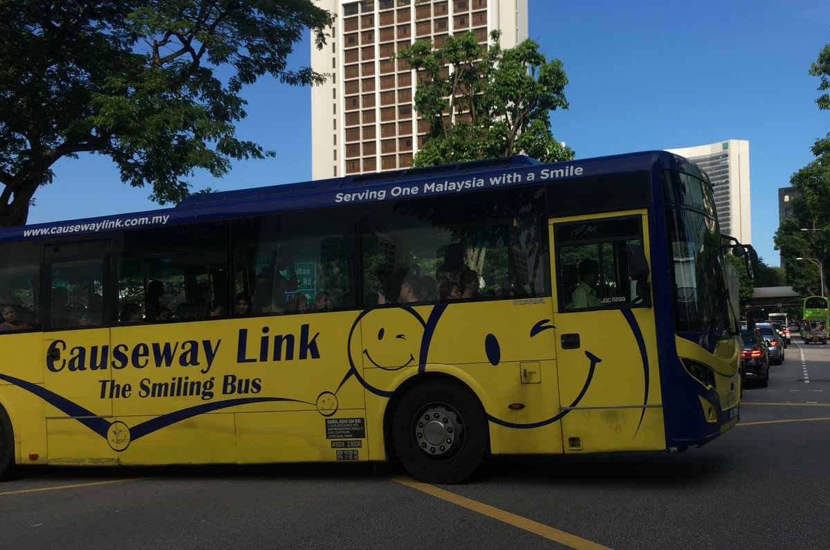 Non-stop Causeway Link bus from Queen Street, Singapore to Johor Bahru and back, Malayisa at price of S$3.30/way.