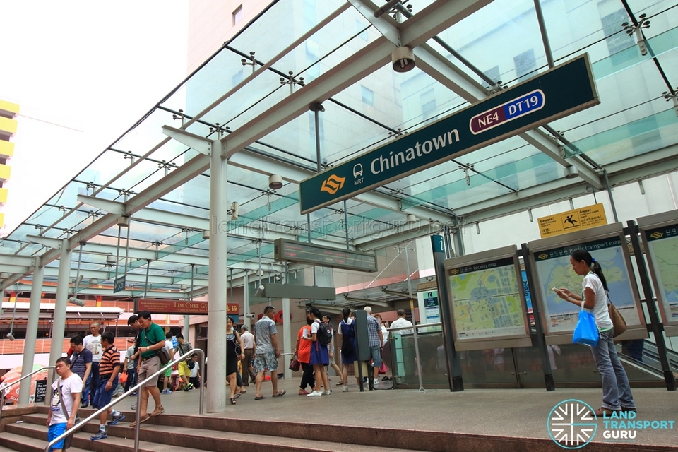 Chinatown MRT Station - Exit C MRT Singapore for tourist, public transport in Singapore for tourists ,The cheapest & best way to get around Singapore
