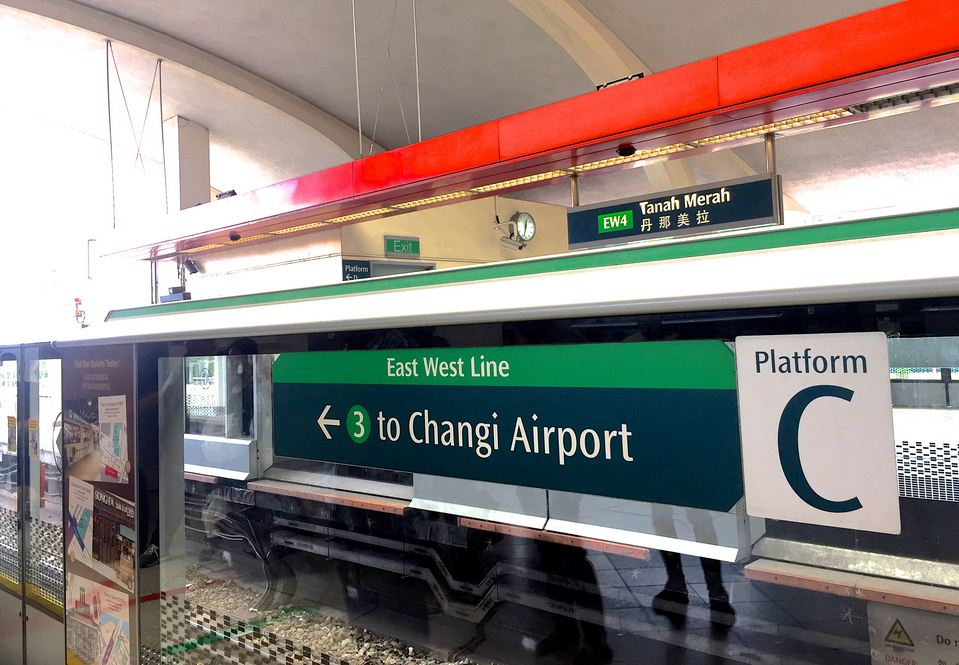 tanah-merah-mrt-station to changi