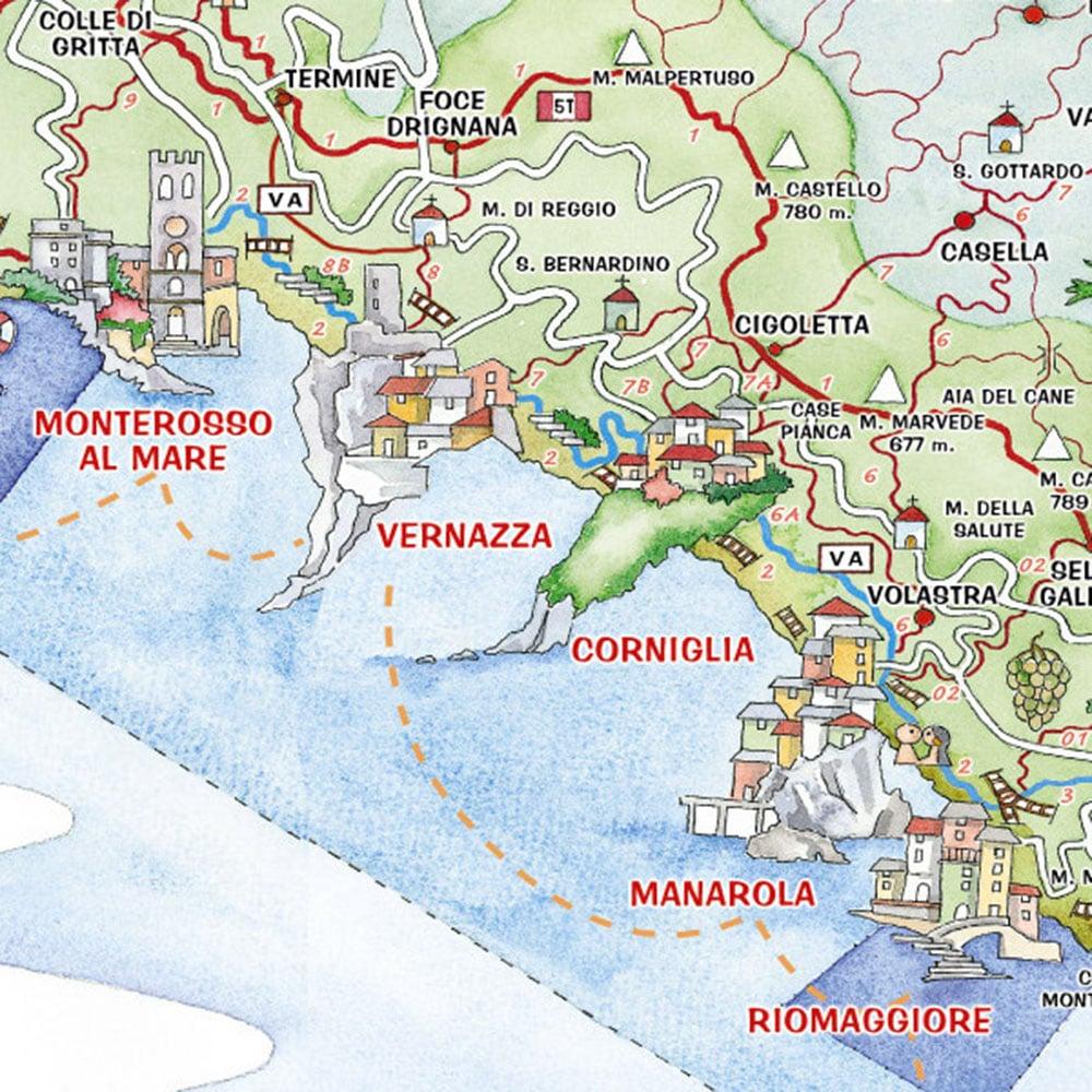 Cinque Terre Tourist map