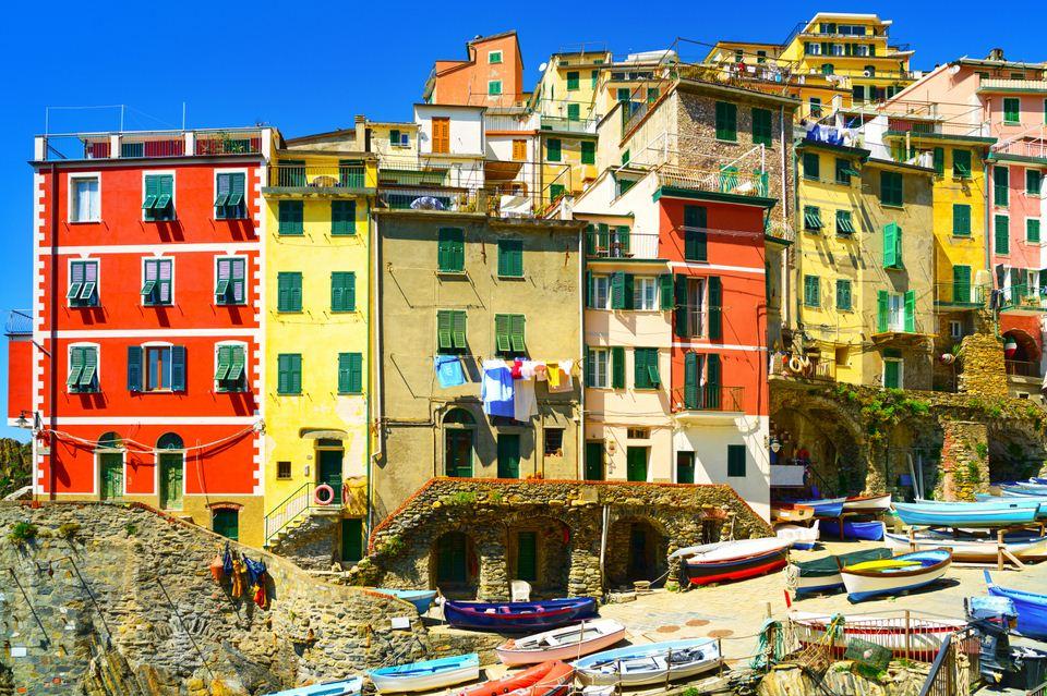 Colourful houses in Riomaggiore