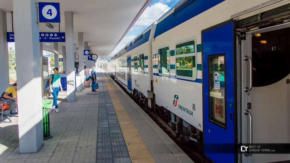 La Spezia Railway Station in Liguria Italy