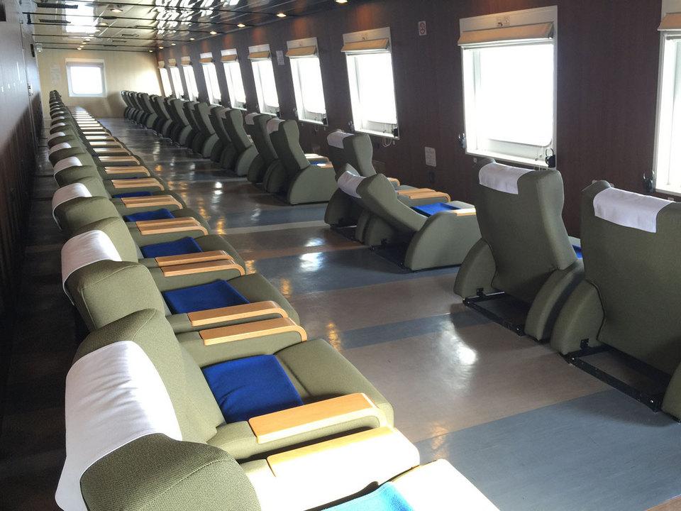 inside Tsugaru Kaikyo Ferry to hakodate