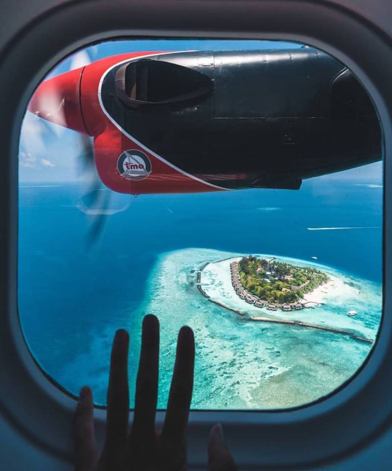 Maldives seen from the Seaplane