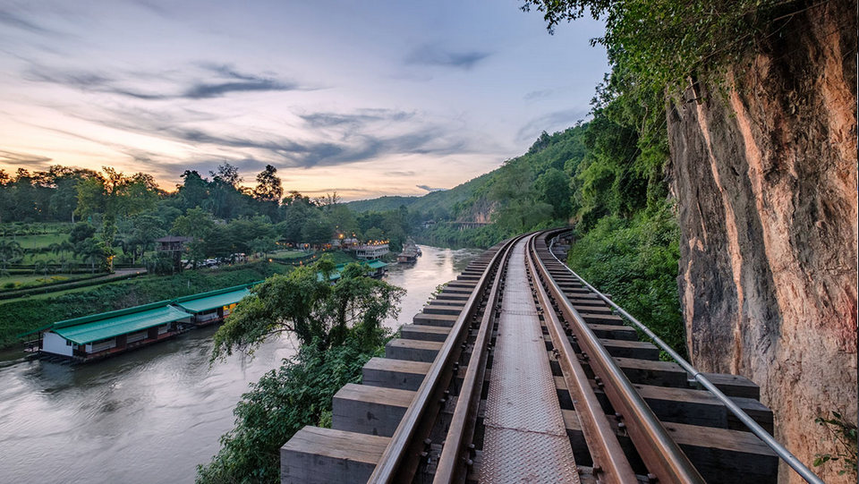 A section of the railway in Kanchanaburi, west Thailand. Photo Credit Mumemories