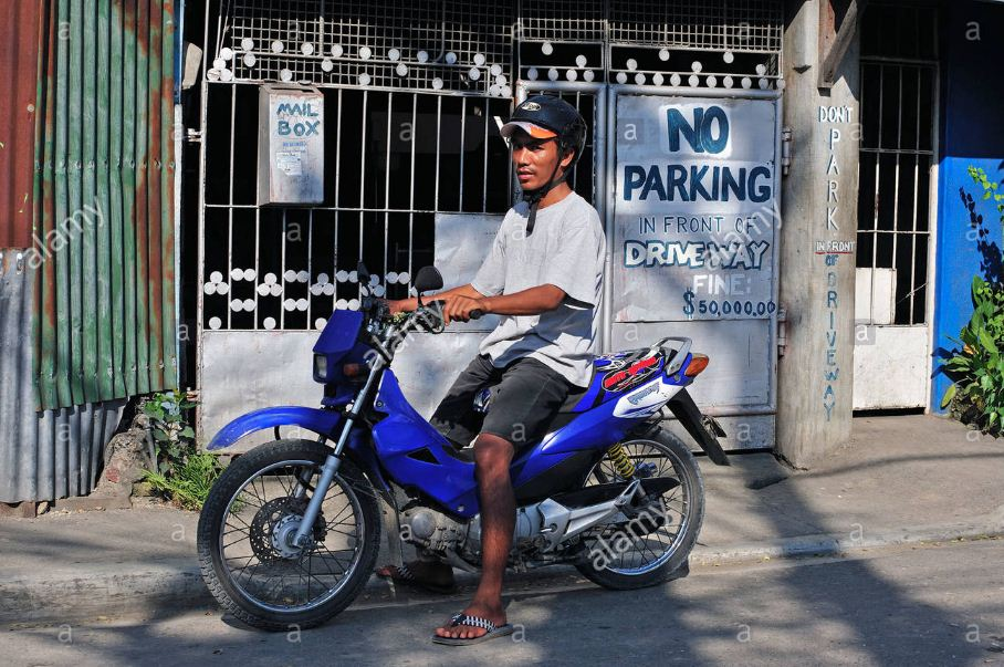 Motor Cycle Taxi Rider Cebu City Philippines