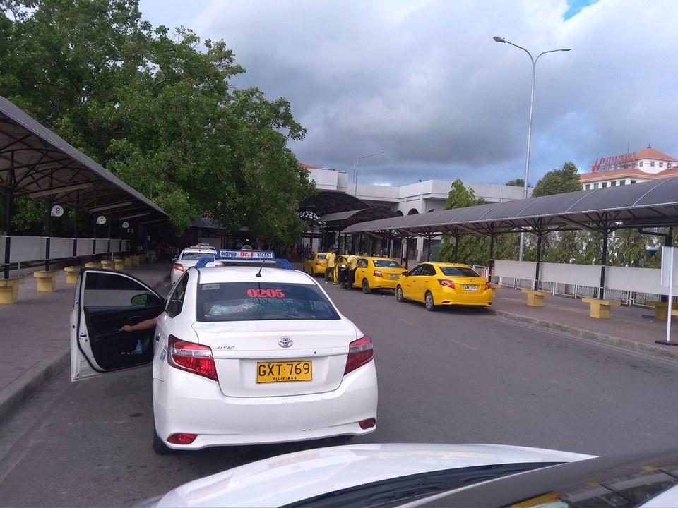 white Airport Taxi Terminal