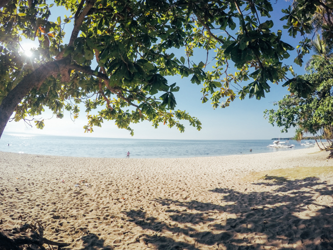 Beach along Esperanza in Pacijan island.