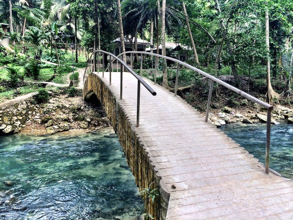 Bridge at Kawasan Falls