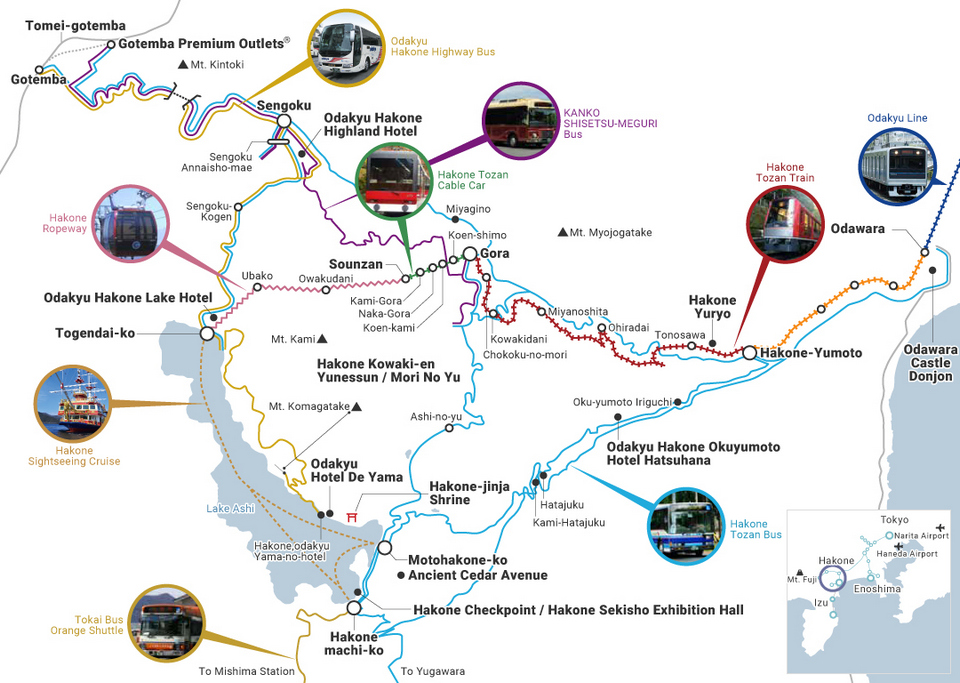Hakone Area Map ,hakone travel blog,hakone travel guide,hakone blog,2 days in hakone,hakone 2 day itinerary