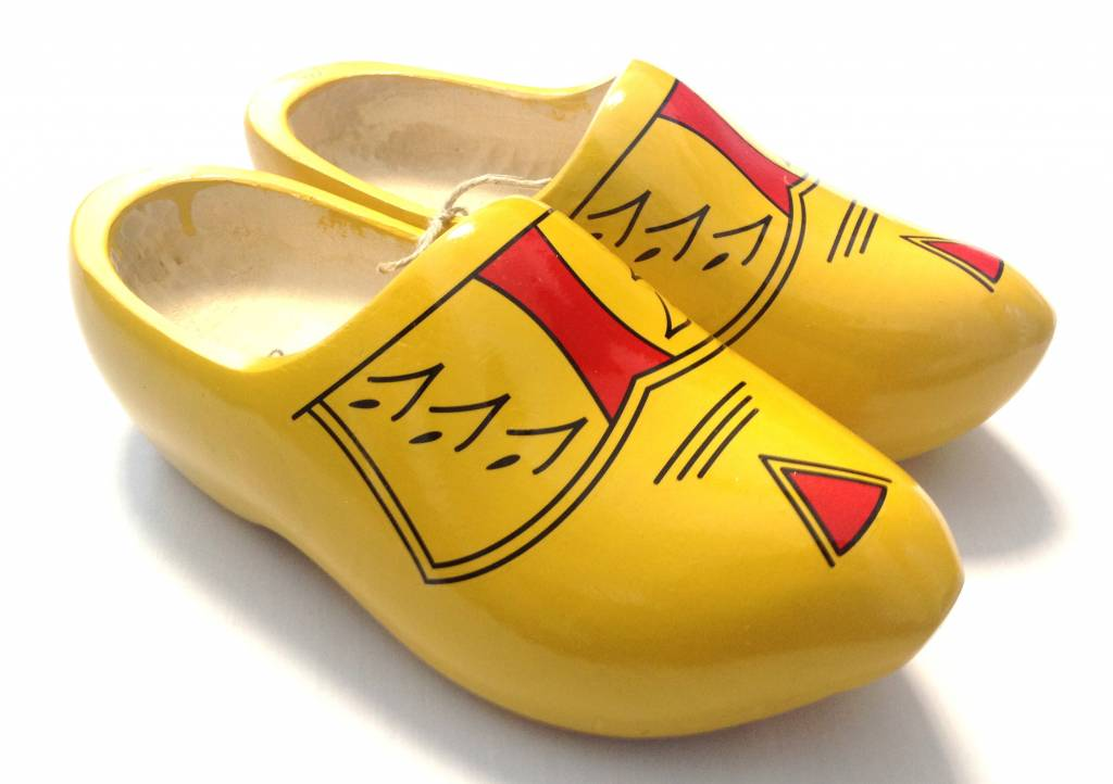 Yellow Wooden Shoes With Stripes Living Nomads Travel Tips