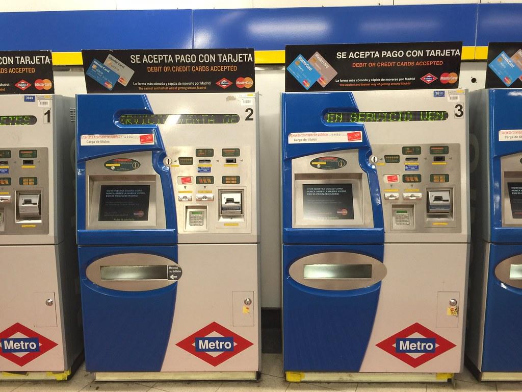 metro ticket vending machine