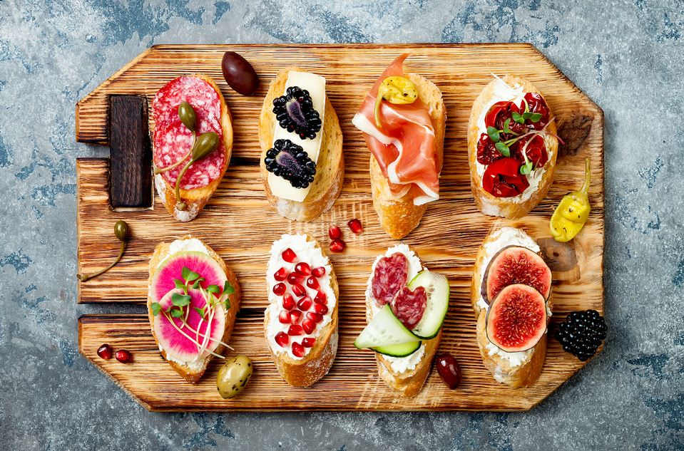 Tapas, typical dishes of Spain