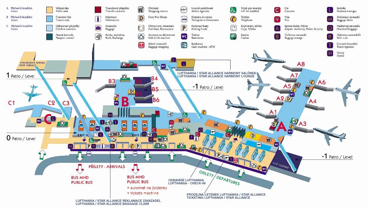 Prague-Airport-Terminal-1-2-map