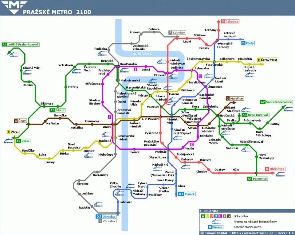 Prague-Metro-Map