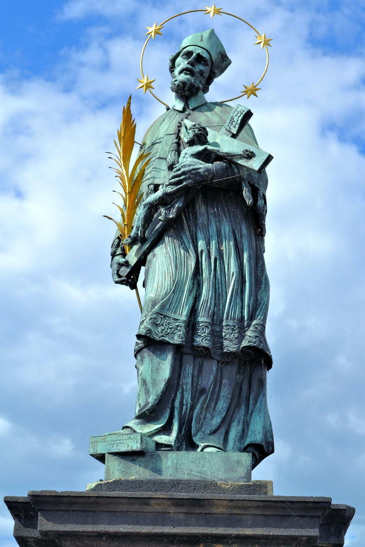 Statue of St. John Nepomuk on Charles Bridge