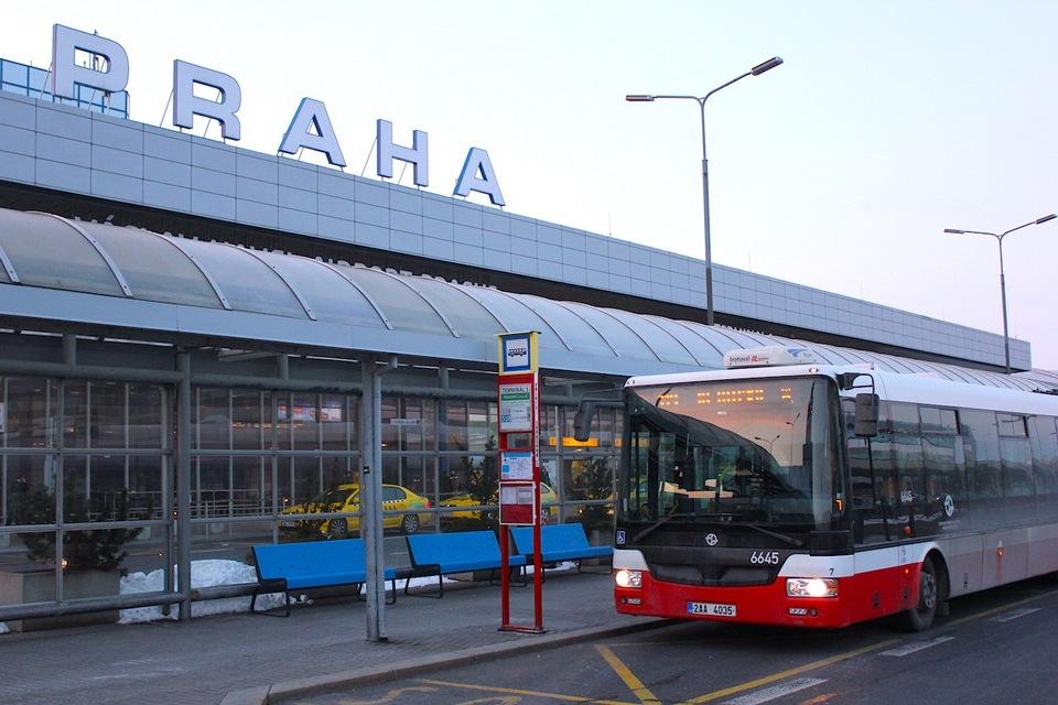 Vaclav Havel Airport Prague bus stop