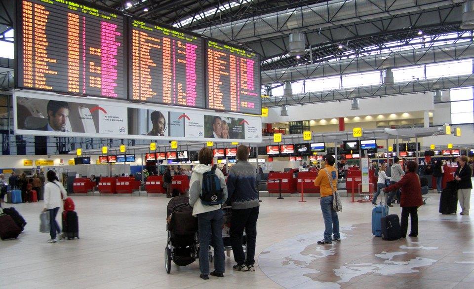 inside Vaclav Havel Airport Prague