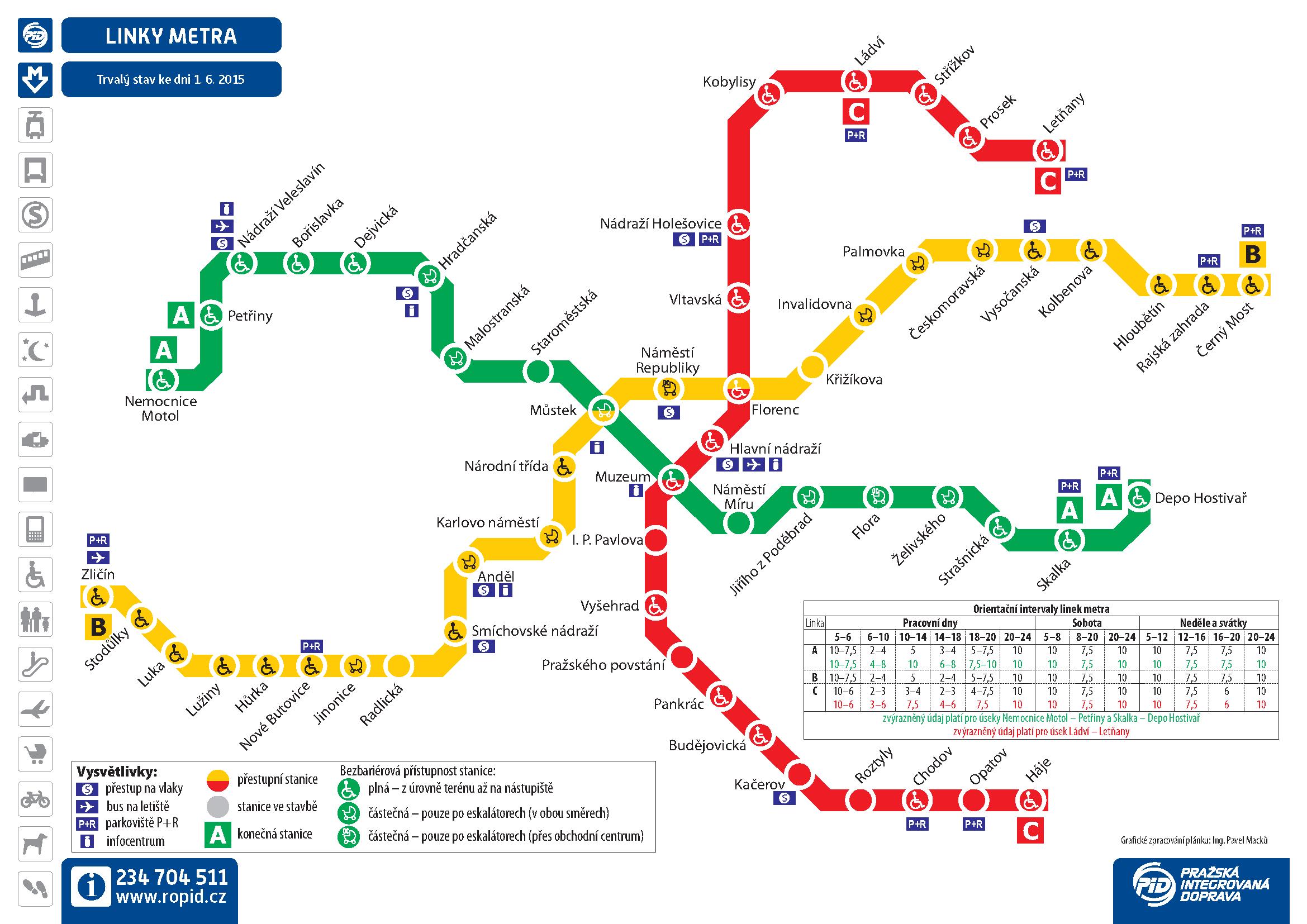 Prague Metro Map