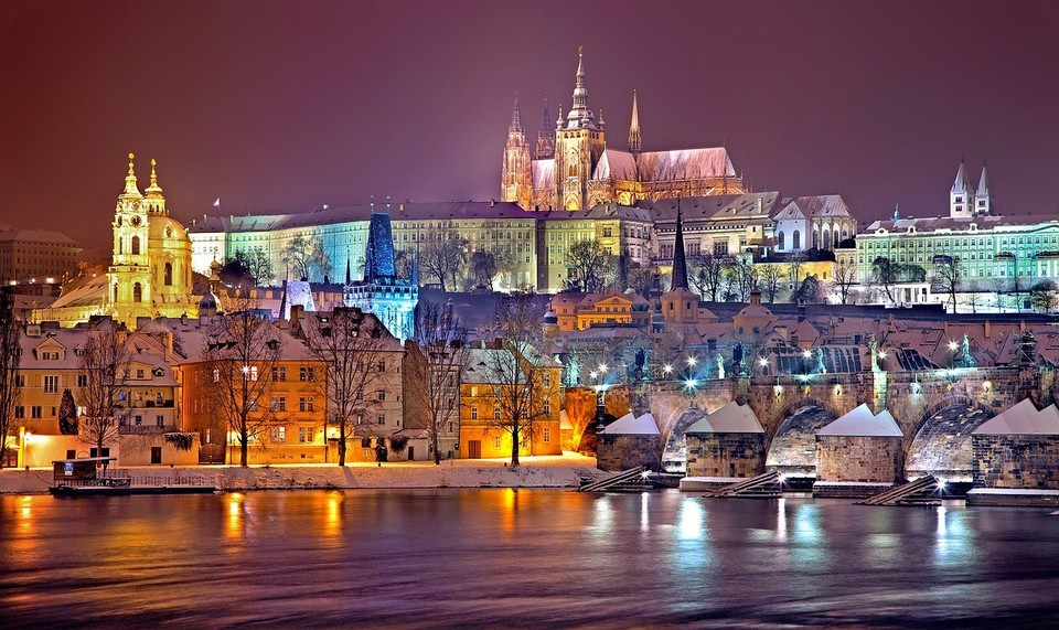 prague-castle in winter