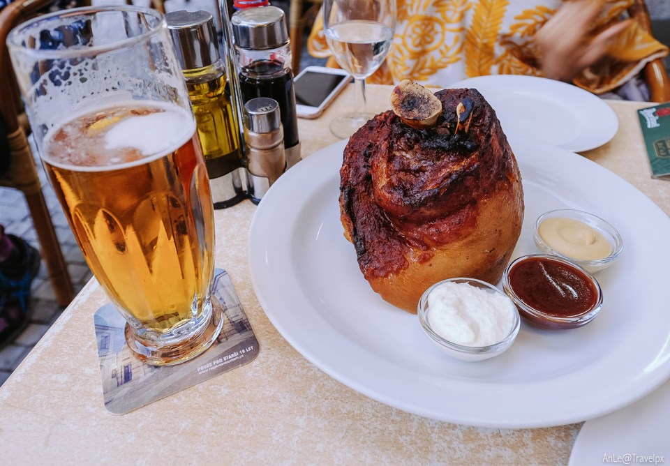 The extremely famous Czech grilled pork leg
