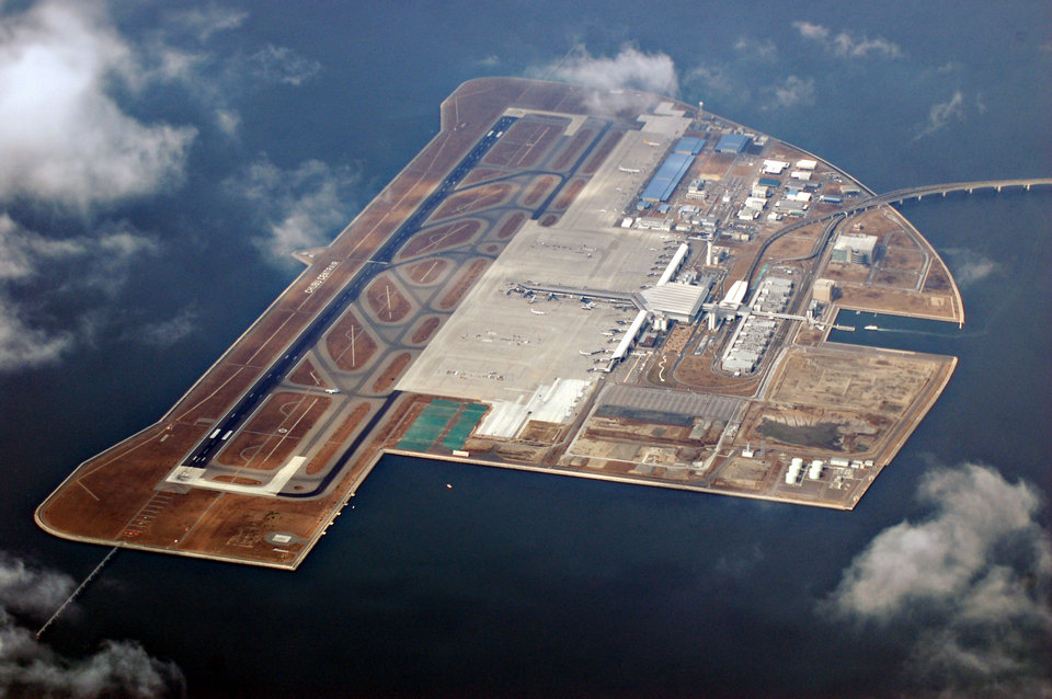 Nagoya Airport is built on an artificial island.