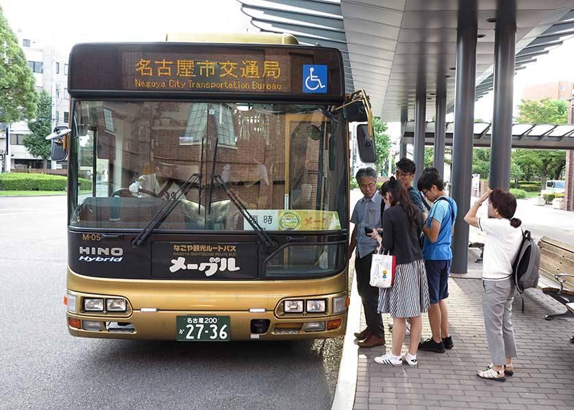 Me~guru Nagoya Sightseeing Route Bus, Nagoya.,nagoya travel blog,nagoya blog,nagoya travel guide