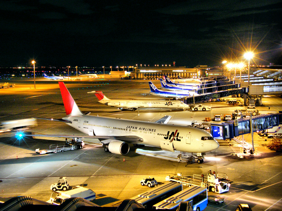 Chubu Airport at night