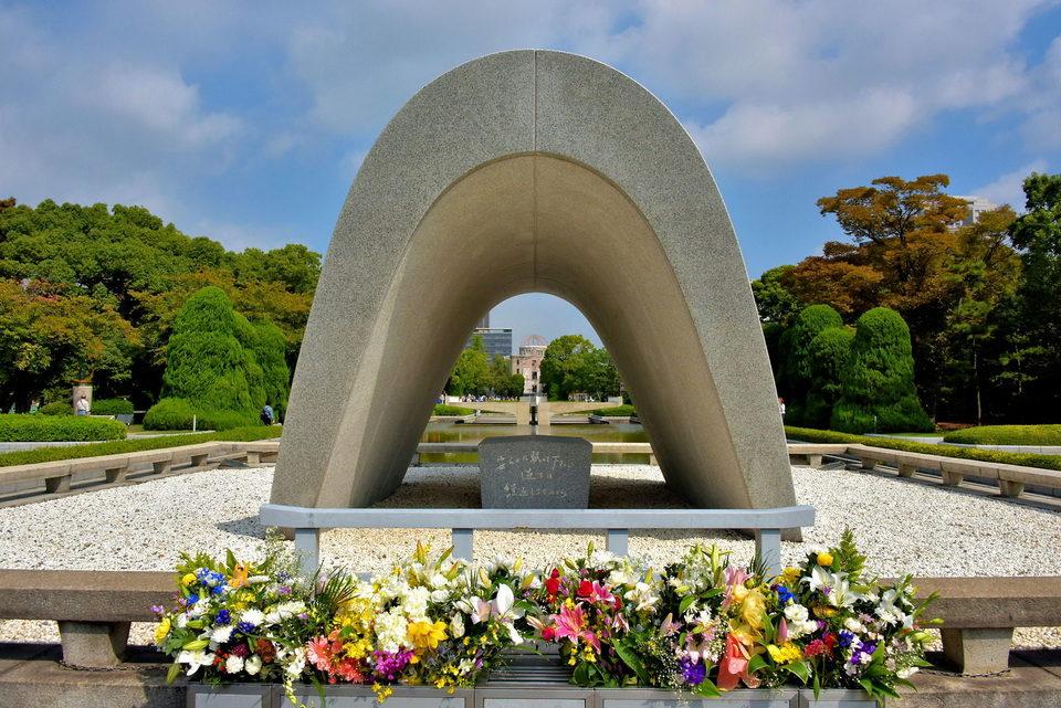 Hiroshima Peace Memorial Cenotaph,hiroshima travel blog (1)