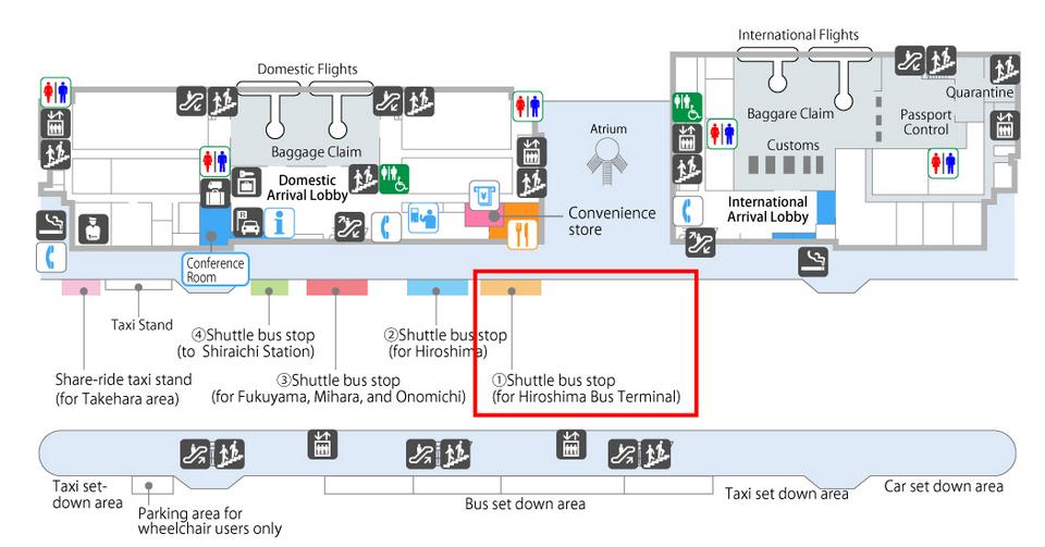 Hiroshima Airport Bus Stops
