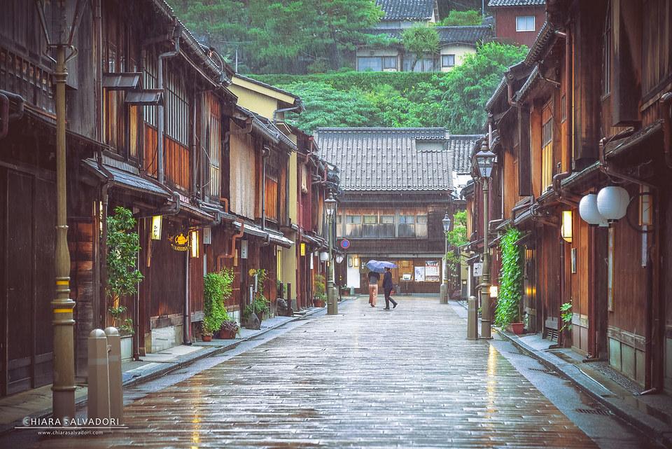 Kanazawa has rain all year round