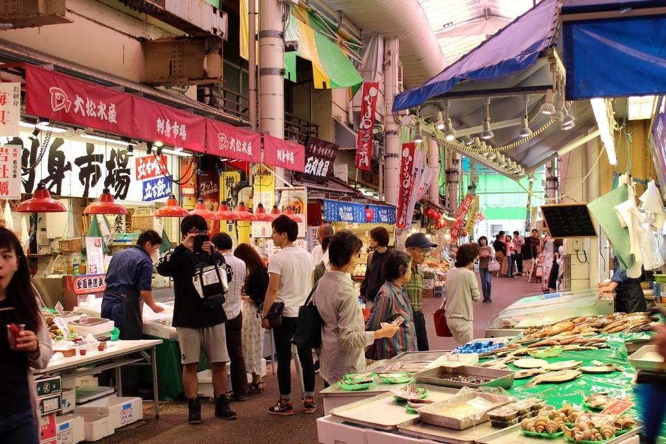Omicho Market,kanazawa travel blog (1)
