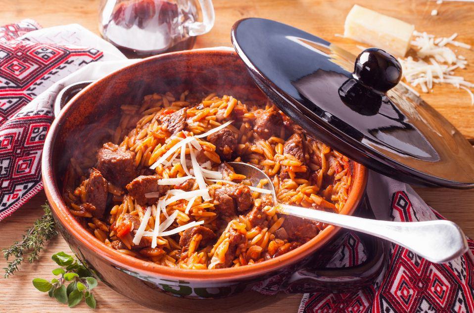 Greek Lamb stew with Orzo pasta
