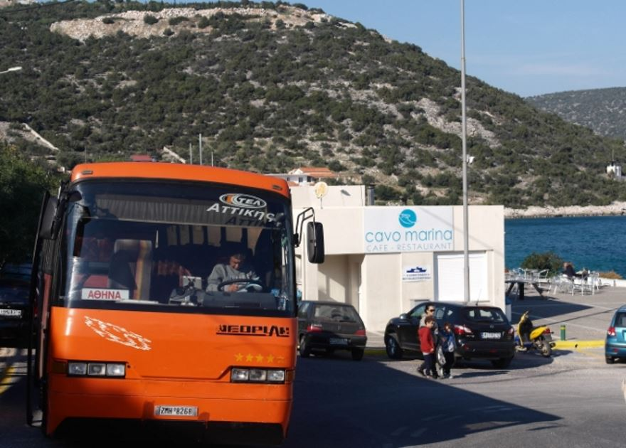 KTEL Bus from Athens to Agia Marina