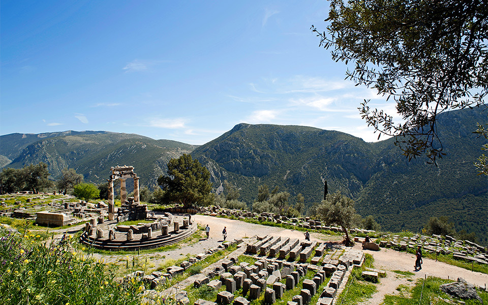 Delphi ancient city ruins