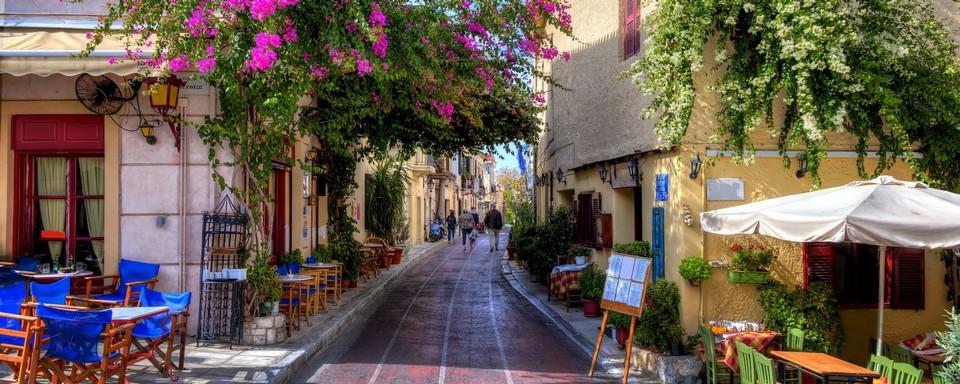 Plaka Neighborhood in Athens, Greece.1