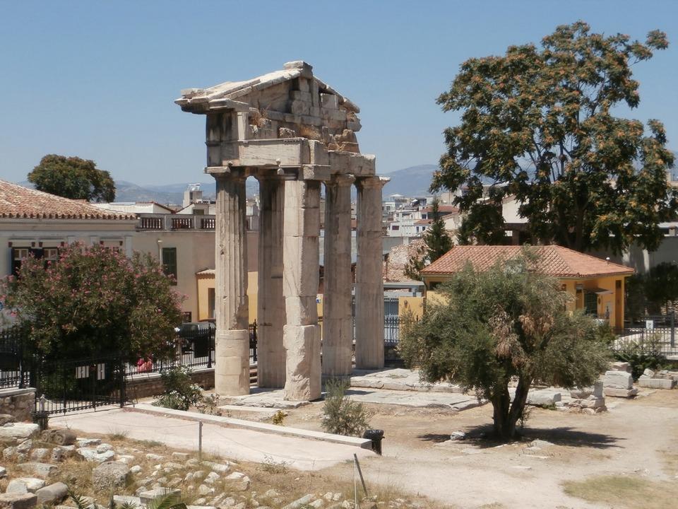 The Gate of Athena Archegetis, entrance to the Agora