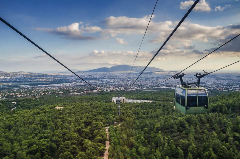 cable car Mount Lycabettus, Athens, Greece