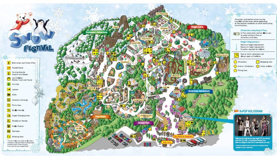 Everland Theme park Map