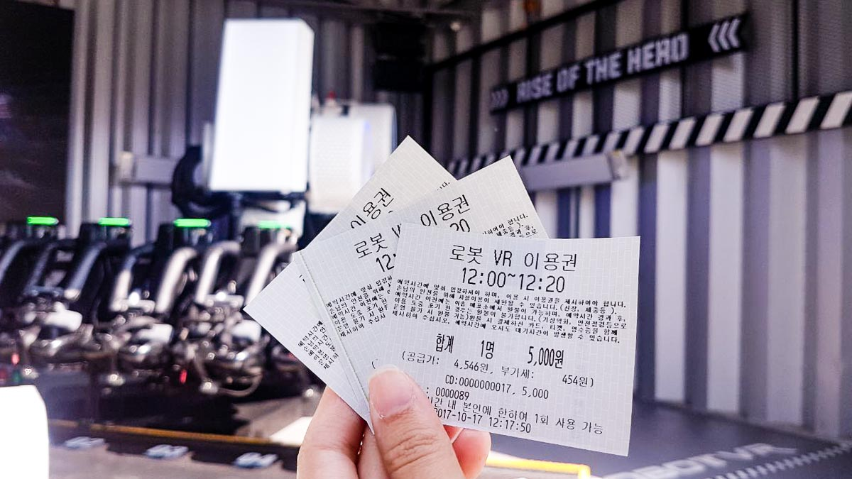 Robot VR Tickets,everland seoul blog,everland korea blog,