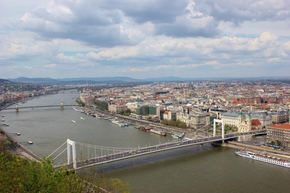 View of Elizabeth Bridge and Budapest