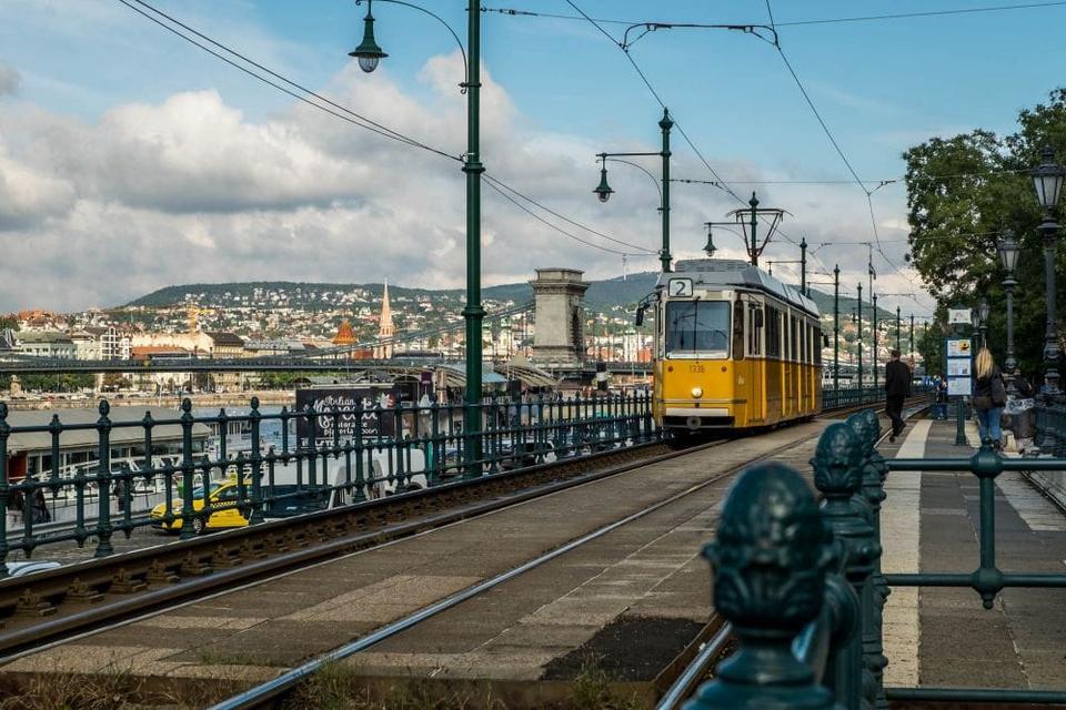 Tram No. 2 will take you along the Danube river