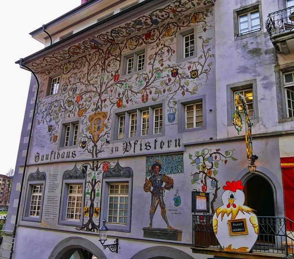 The historic centre of Lucerne, Switzerland, has some beautiful painted buildings - Luxury Columnist